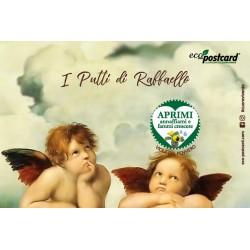 Eco-Postcard Artistica - Putti Raffaello con Realtà Aumentata