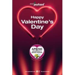 Eco-Postcard di auguri per San Valentino Neon - Viola del pensiero