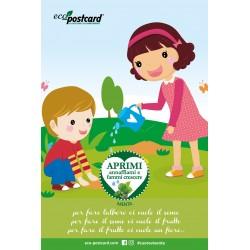 Eco-Postcard con filastrocca per bambini