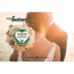 Eco-Postcard per annunciare o celebrare il tuo matrimonio - Nontiscordardime