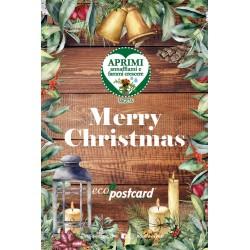 Eco-Postcard Natalizia Merry Christmas - tagete