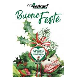 Eco-Postcard Natalizia Buone feste -  peperoncino