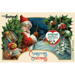 Eco-Postcard Natalizia Chistmas Greetings - ipomea