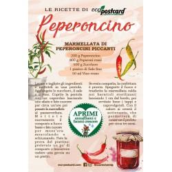 Eco-Postcard con Ricetta Marmellata peperoncini piccanti