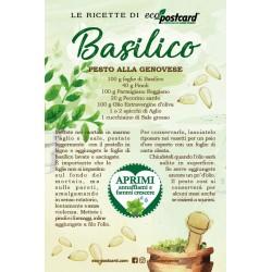 Eco-Postcard con Ricetta Pesto alla genovese