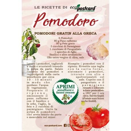 Eco-Postcard con Ricetta Pomodori gratin