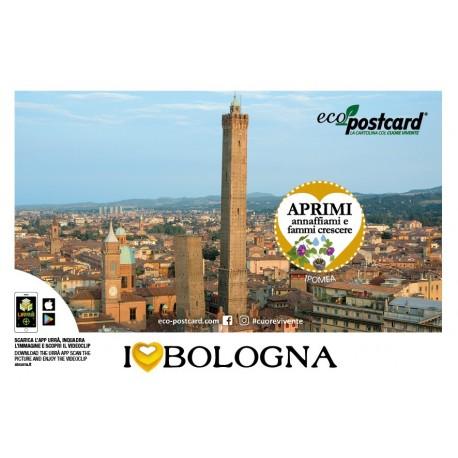 Eco-Postcard Turistica I Love Bologna - Ipomea