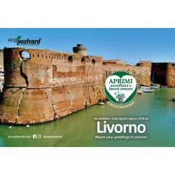 Eco-Postcard cartolina souvenir Fortezza Vecchia Livorno - Ipomea
