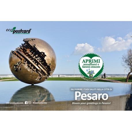 Eco-Postcard Turistica della Sfera Grande di Pesaro - Nontiscordardimé