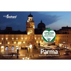 Eco-Postcard Turistica di Parma - Palazzo del Governatore - Girasole