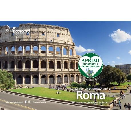 Eco-Postcard cartolina souvenir Colosseo Roma - Nontiscordardimé