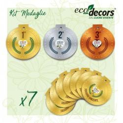 Eco-Decors Kit 10 Medaglie ecologiche