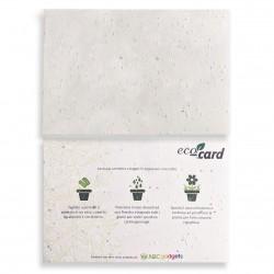 ECO-CARD cartolina biodegradabile piantabile neutra ai fiori misti