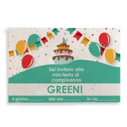 ECO-CARD cartolina piantabile con semi misti personalizzabile sul fronte