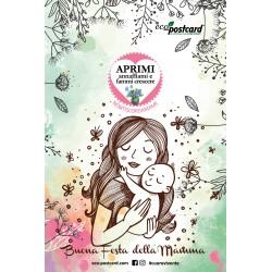 Eco-Postcard di Auguri per la Festa della Mamma - Nontiscordardime