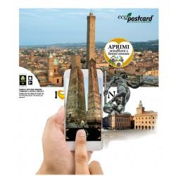 Eco-Postcard Turistica I Love Bologna con Realtà Aumentata