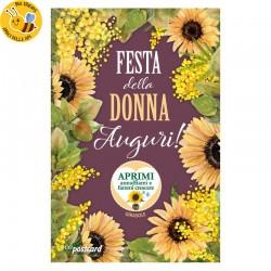 Eco-Postcard Auguri Festa della Donna Girasole