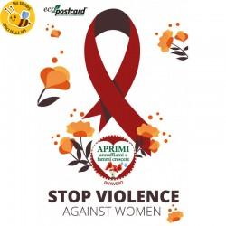 Eco-Postcard Stop violenza sulle donne_Stop violence against women - Papavero