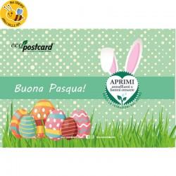 Eco-Postcard Auguri Pasqua Cartoon