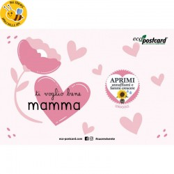 Eco-Postcard Auguri Festa della Mamma Cuori