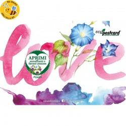 Eco-Postcard di Auguri per San Valentino - Ipomea