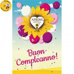 Eco-Postcard cartolina Auguri Viventi con pianta di Girasole