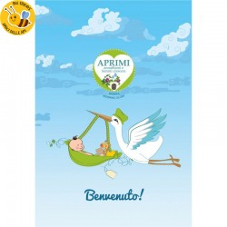 Eco-Postcard Cartolina Ecologica Auguri Nascita bambino - Morning glory