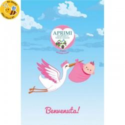 Eco-Postcard Cartolina Ecologica Auguri Nascita bambina - Morning glory