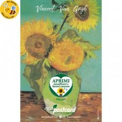 Eco-Postcard Artistica - Girasoli di Van Gogh con Realtà Aumentata