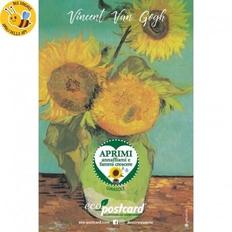 Eco-Postcard cartolina artistica Girasoli Van Gogh con Realtà Aumentata