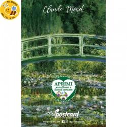 Eco-Postcard Artistica - Stagno delle ninfee di Monet con Realtà Aumentata
