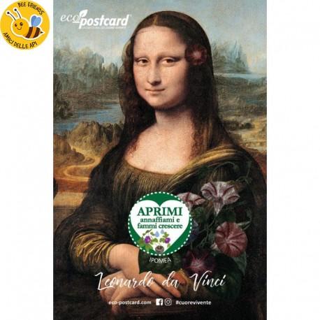 Eco-Postcard Artistica - Monna Lisa con Realtà Aumentata