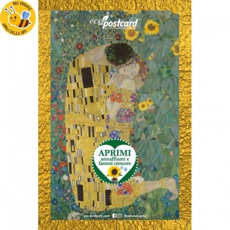Eco-Postcard cartolina artistica Girasoli Van Gogh con Realtà Aumentata| Fronte