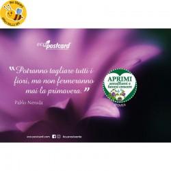 Eco-Postcard cartolina citazione Pablo Neruda