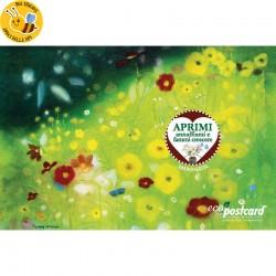 Eco-Postcard fiori estivi Tiziana Leobruni
