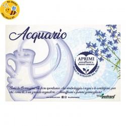 Eco-Postcard zodiaco Acquario - borragine