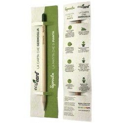 SPROUT ECO-CARD matita e segnalibro con semi piantabile con mina nera