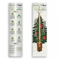 SPROUT ECO-CARD NATALIZIA matita e segnalibro con semi piantabile