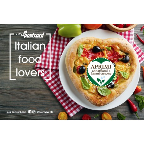 Eco-Postcard cartolina Italian Food Lovers pizza | Fronte
