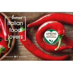 Eco-Postcard cartolina Italian Food Lovers peperoncino | Fronte
