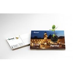 Eco-Postcard Turistica di Parma - Palazzo del Governatore | Con piantina