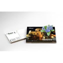 Eco-Postcard Turistica di Ravenna - Basilica di San Vitale | Con piantina