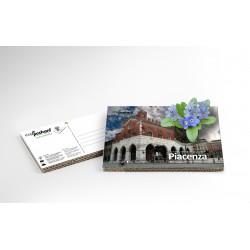 Eco-Postcard Turistica di Piacenza | Con piantina