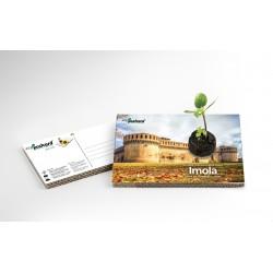 Eco-Postcard Turistica della Rocca Sforzesca di Imola | Con piantina
