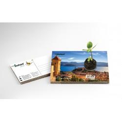 Eco-Postcard Turistica dell'Isola d'Elba | Con piantina