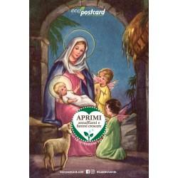 Eco-Postcard Natalizia Madonna con Bambino