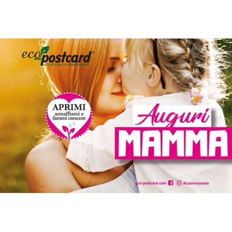 Eco-Postcard di Auguri per la Festa della Mamma - Nontiscordardimé   Fronte
