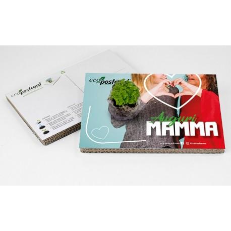 Eco-Postcard di Auguri per la Festa della Mamma - Nontiscordardimé | Con Piantina