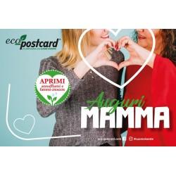 Eco-Postcard di Auguri per la Festa della Mamma - Nontiscordardimé | Fronte