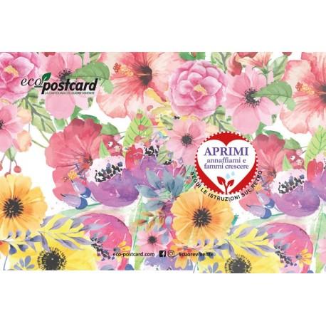 Eco-Postcard di auguri per San Valentino - Viola del pensiero